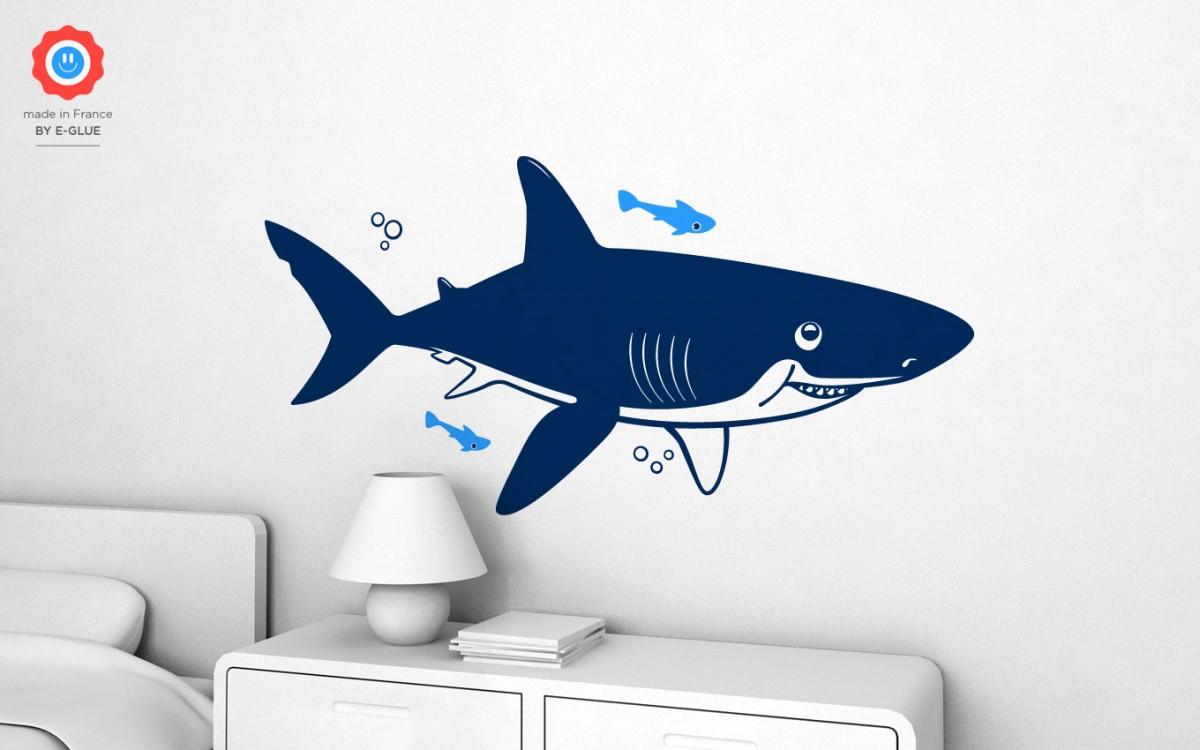 vinilo infantil tiburón (XL)