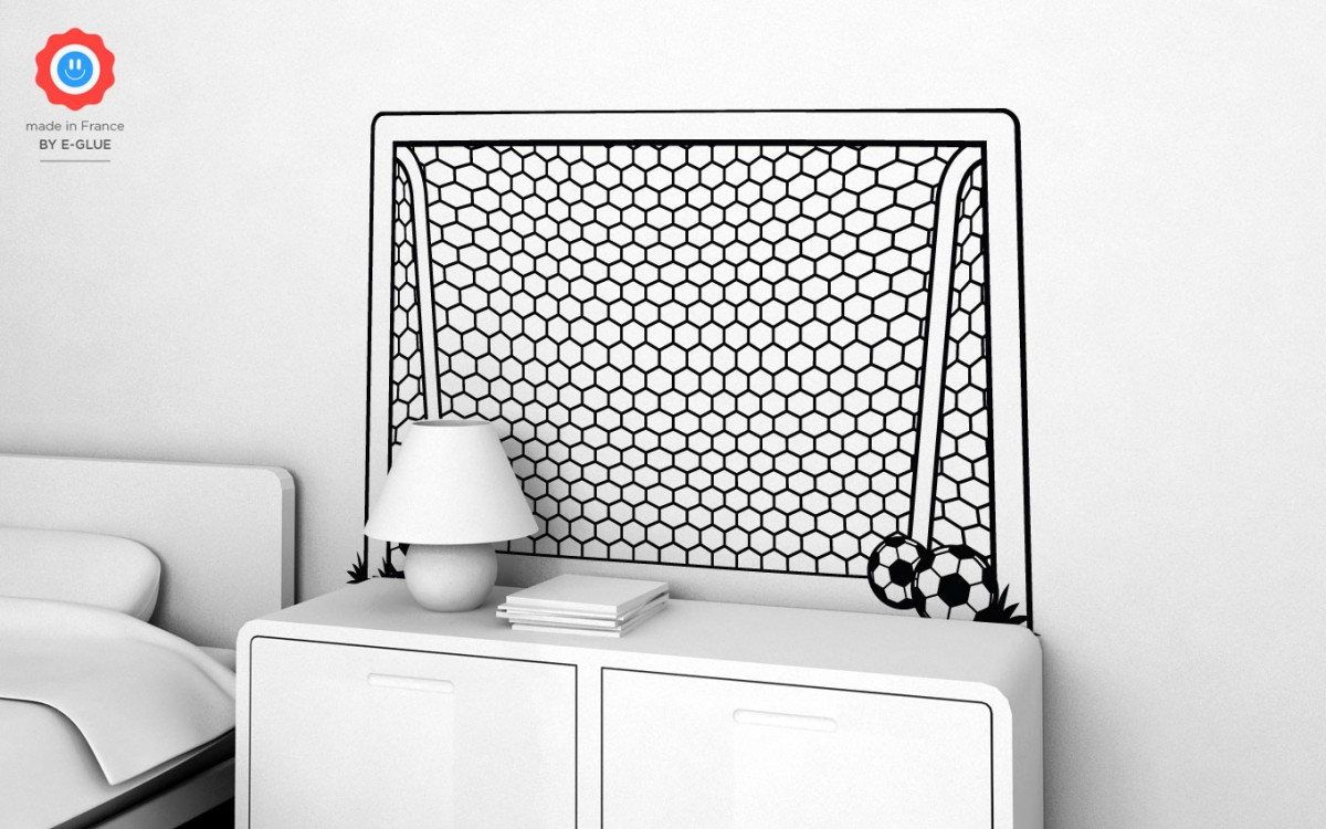 sticker enfants cage de foot xl stickers muraux chambres enfant stickers foot stickers d co. Black Bedroom Furniture Sets. Home Design Ideas