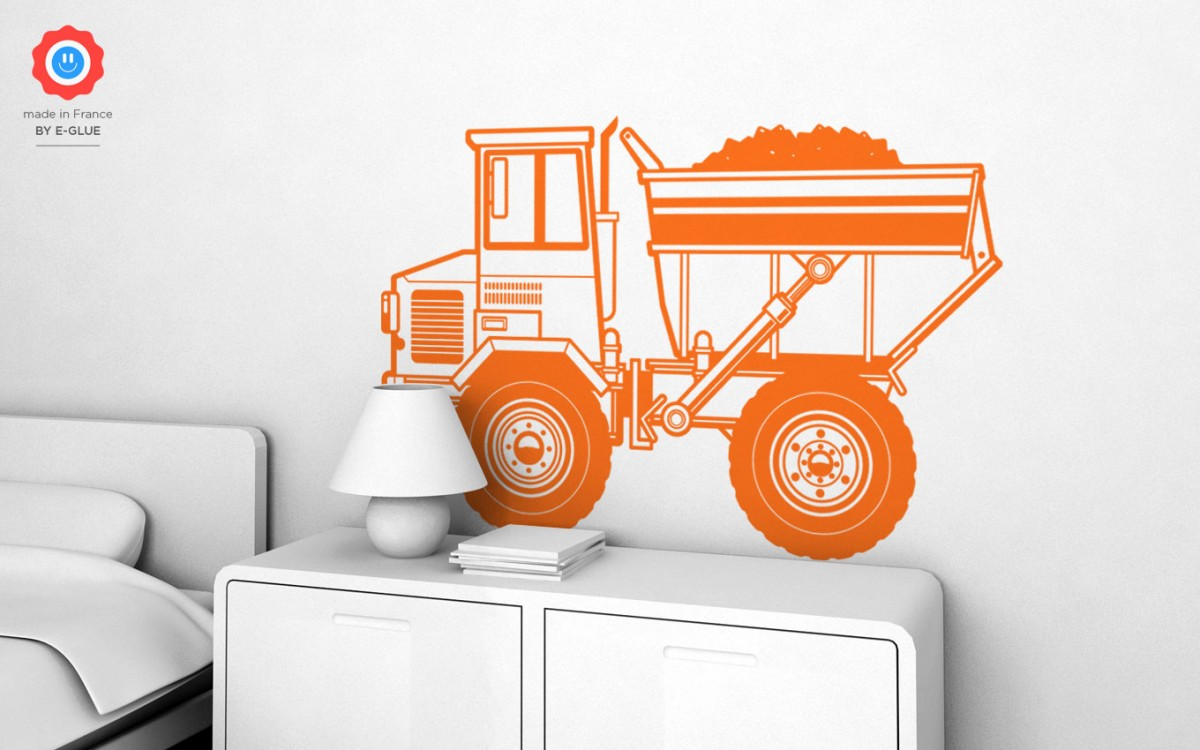 dump truck wall decals (XL)