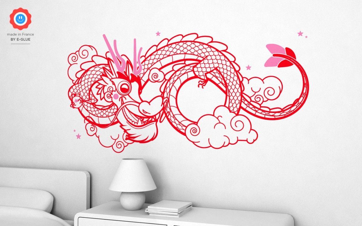 stickers dragon chinois (XL)