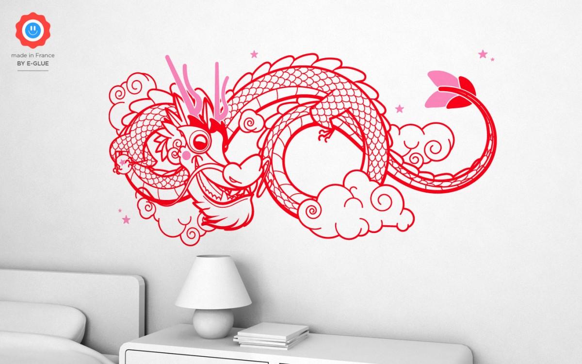 vinilos dragón chino (XL)