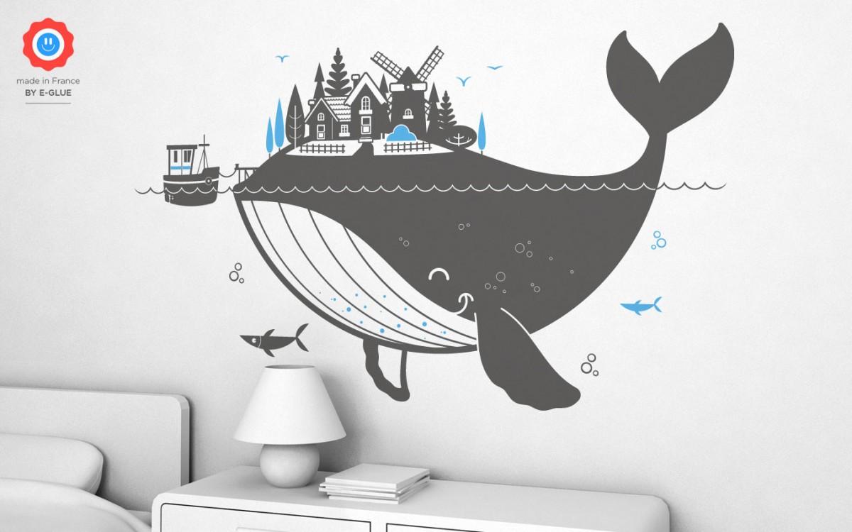 stickers enfant baleine (XL)
