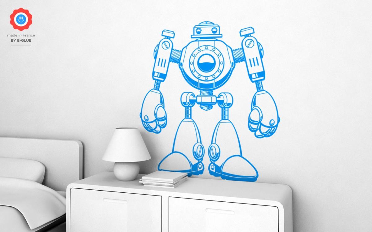 Sticker enfants robot xl stickers muraux chambres enfant for Decoration chambre robot