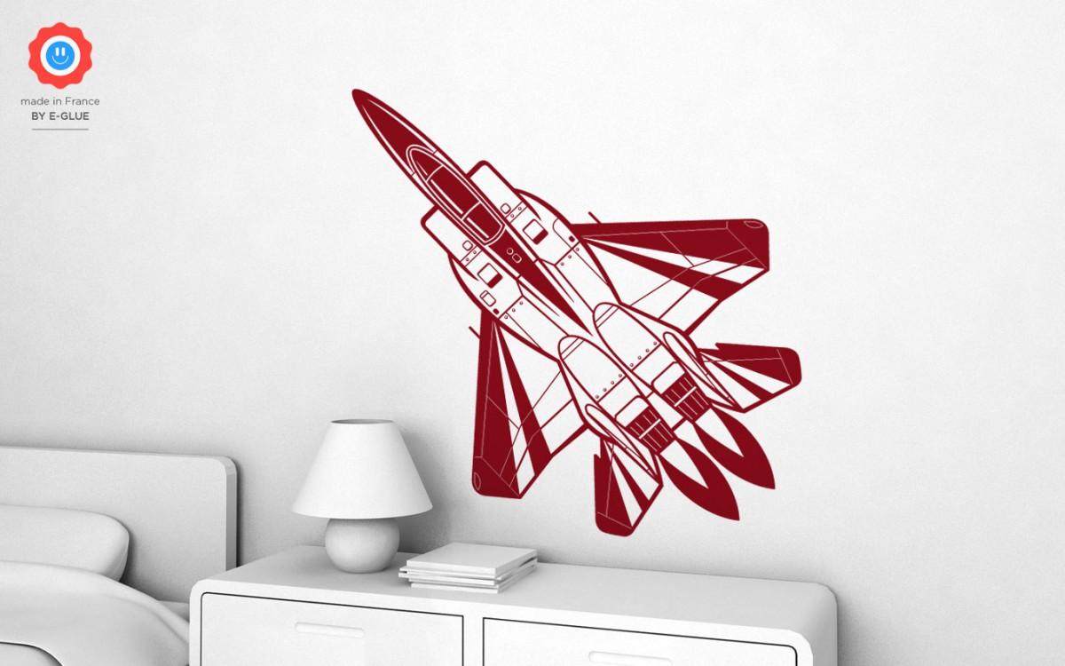 vinilos avión de caza (XL)