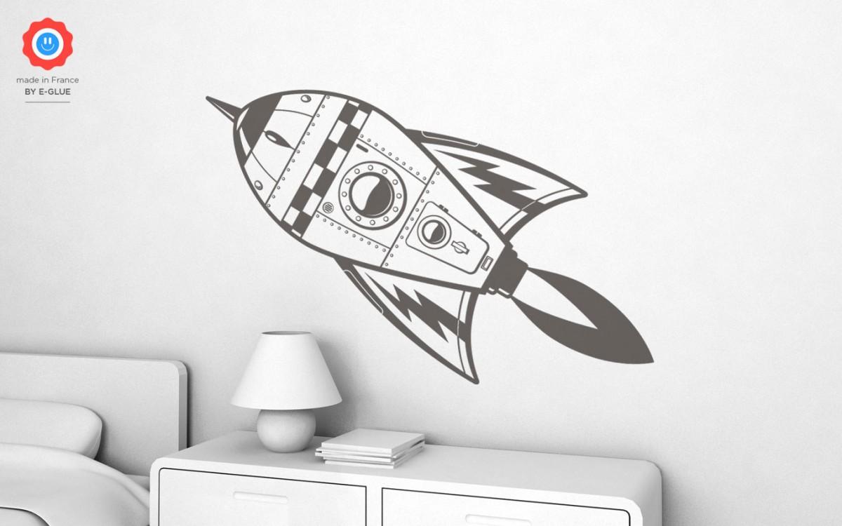 stickers enfant fusée (XL)