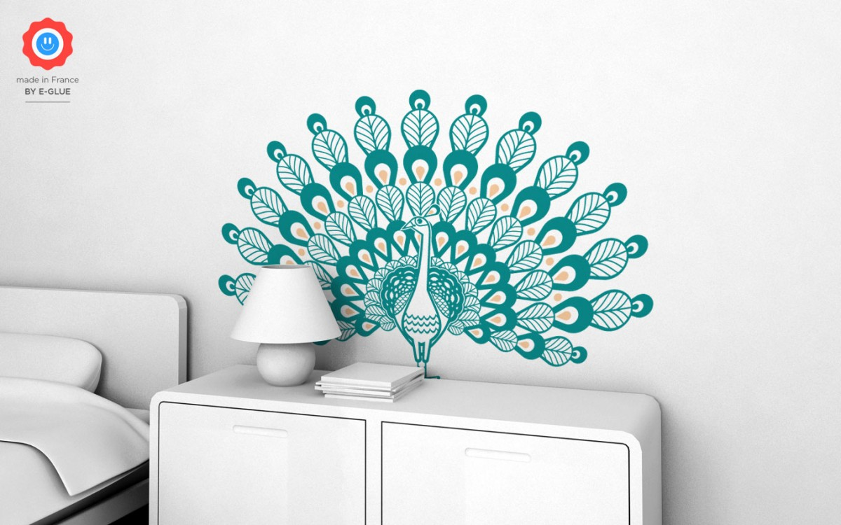 peacock kids wall decals (XL)