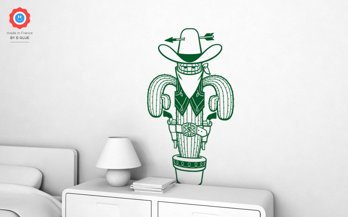 sheriff cactus wall decals (XL)