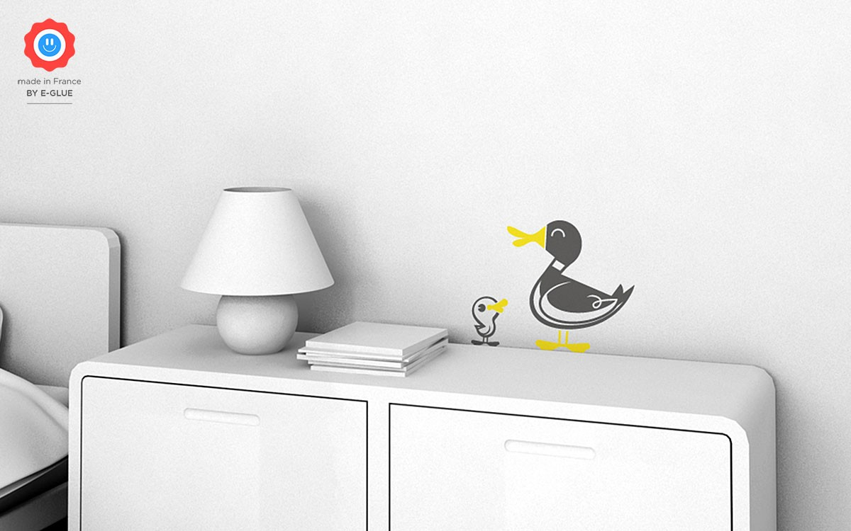 stickers enfant canard
