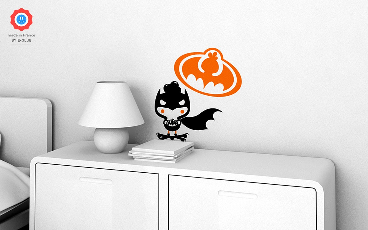 Bat Chicky superhero wall decals