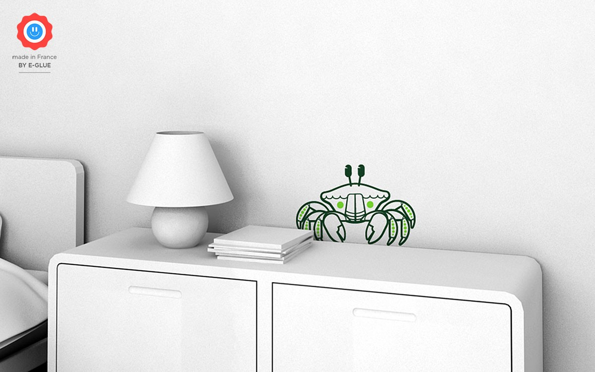 stickers enfant crabe