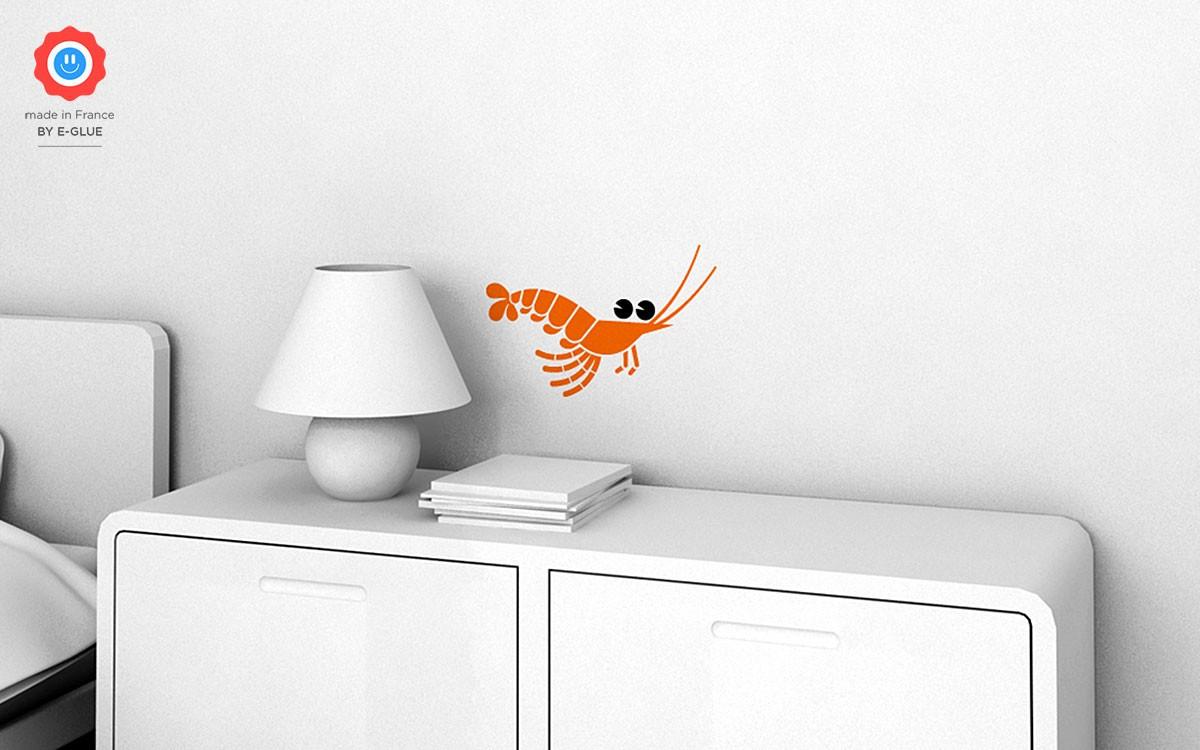 vinilo infantil camarón