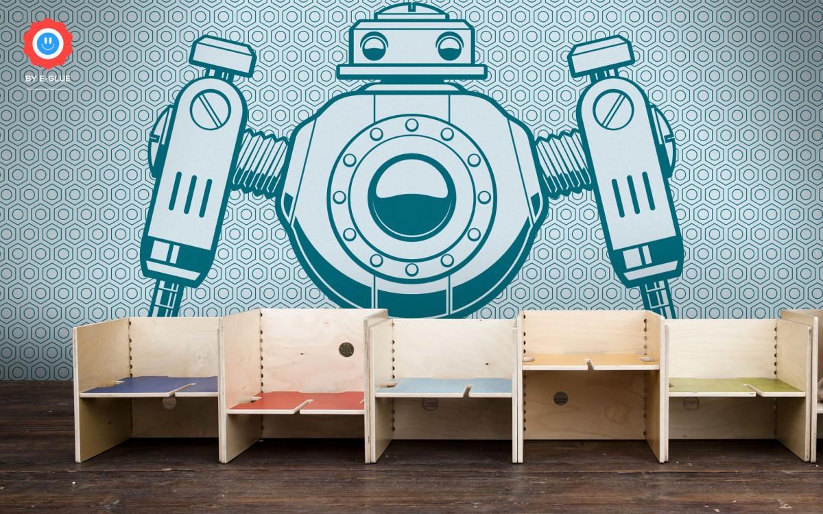 papier peint enfant XXL robot