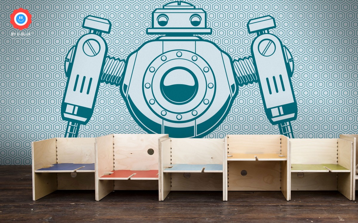 kids wallpaper mural XXL robot
