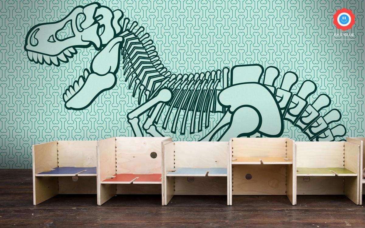 mural infantil de papel XXL dinosaurio t-rex