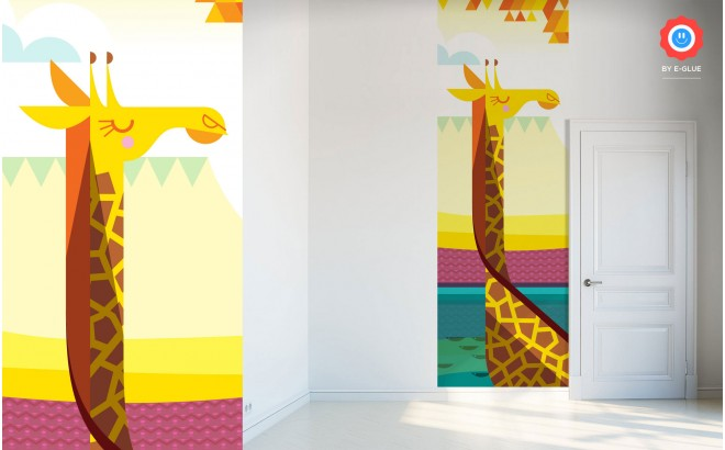 giraffe Kids Wall Murals Wallpaper