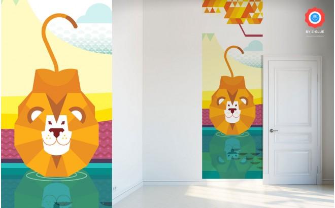 Fresque Murale Papier-Peint Enfants lion