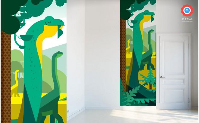 papier-peints enfant dinosaures pour chambres garçon, theme monde jurassique