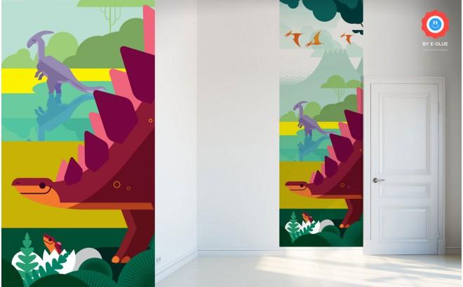 papiers peints enfants dinosaures d coration murale chambre enfant. Black Bedroom Furniture Sets. Home Design Ideas