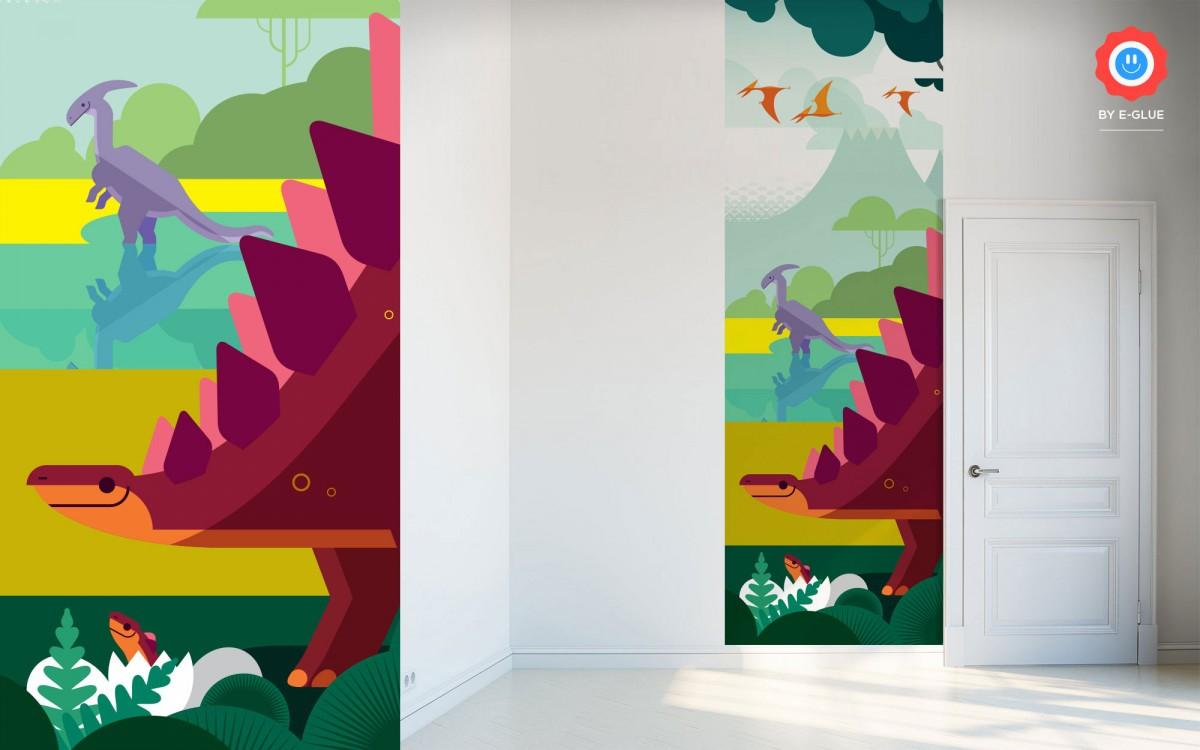mural infantil dinosaurio - estegosaurio