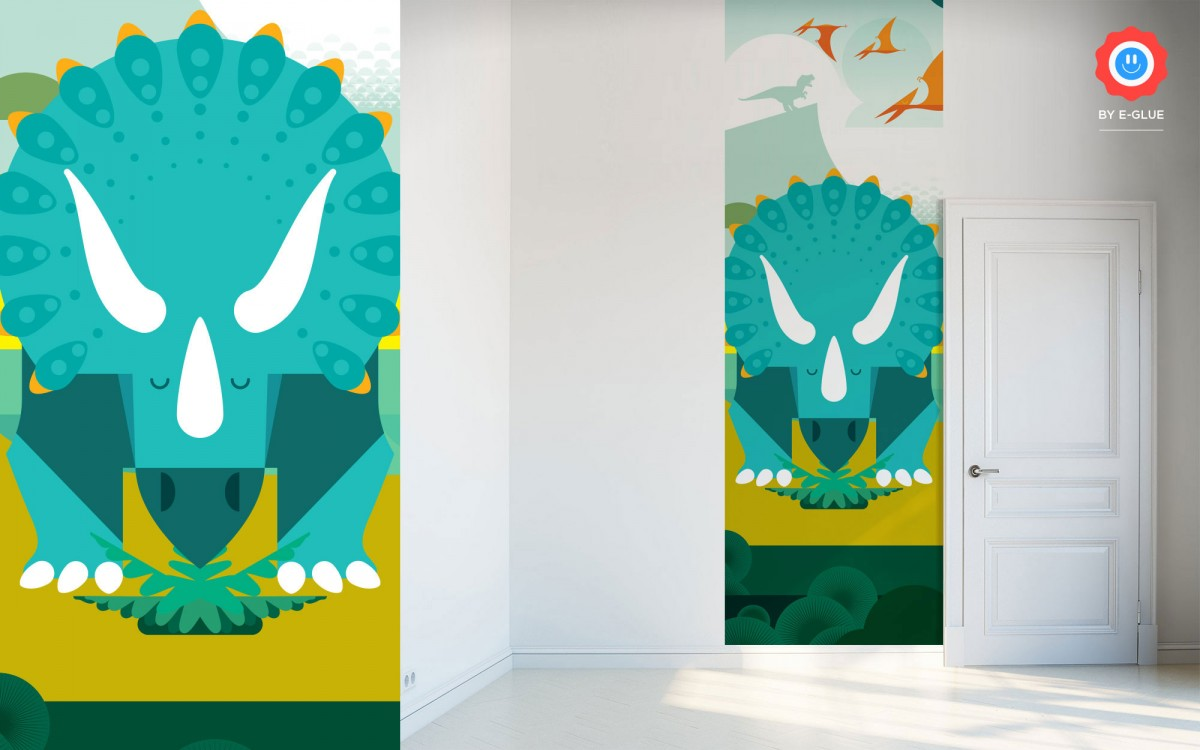 dinosaur kids wallpaper - triceratops
