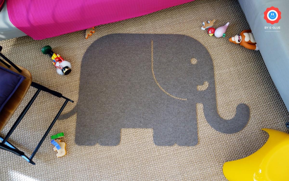 alfombras infantiles elefante