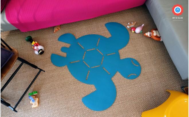 tapis enfants tortue en feutre XL