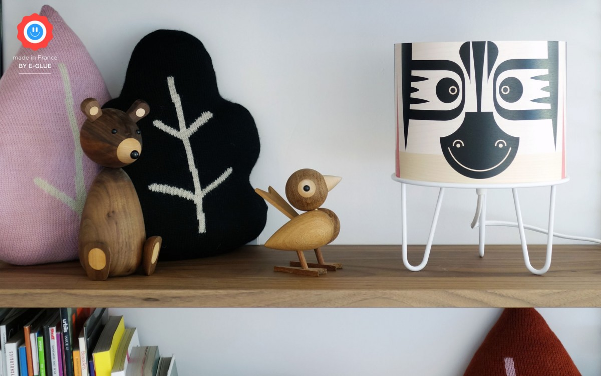 lámpara infantil Minilum Cebra (negro)