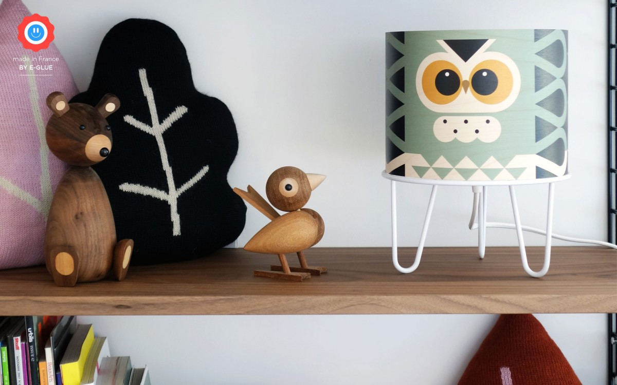 kids lamp Minilum Owl (black)