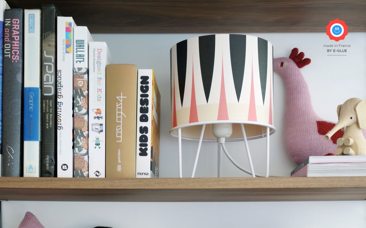 kids lamp Minilum white Zebra geometric pattern
