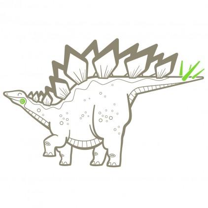 stickers enfant dinosaure stégosaure