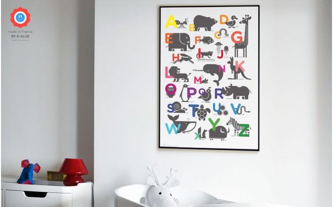 Affiches Posters Art Enfants Bébés Alphabet Animaux