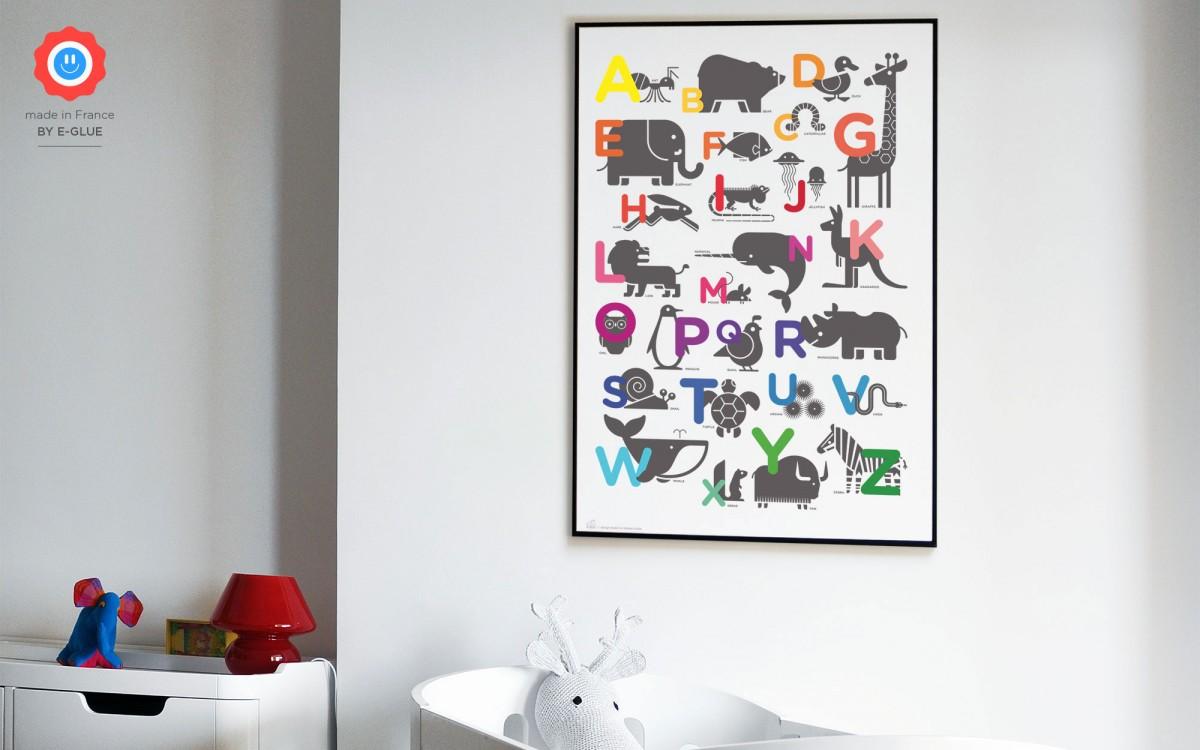 affiche alphabet ABC