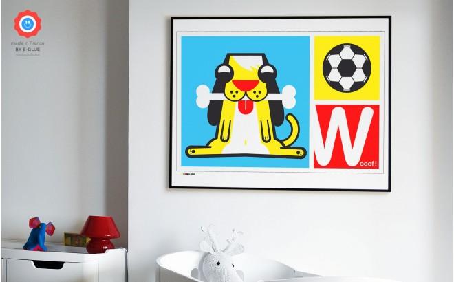dog Kids Silkscreen Art Print
