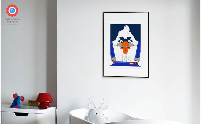 big foot (joking) yeti Kids Silkscreen Art Print