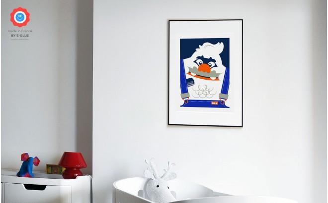 Affiches Serigraphies Art Enfants yéti big foot (peigné)