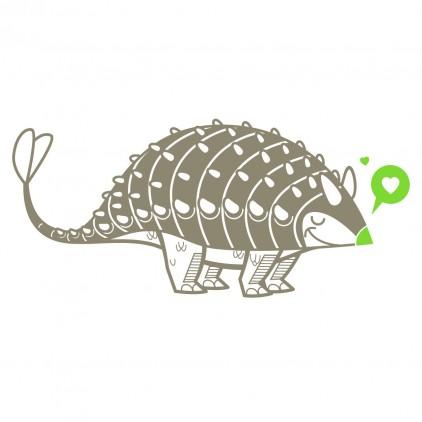 stickers enfant dinosaure ankylosaure