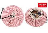 Sac Rangement de Jouets et Tapis de Jeux Play and Go diamant rose