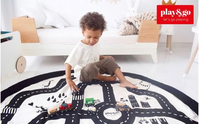Sac motif Route et Tapis de Jeux Play and Go pour Enfants