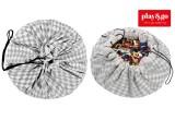 Sac Rangement de Jouets et Tapis de Jeux Play and Go diamant gris