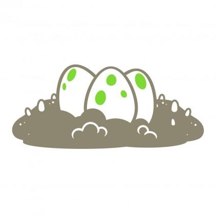 stickers enfant dinosaure œufs
