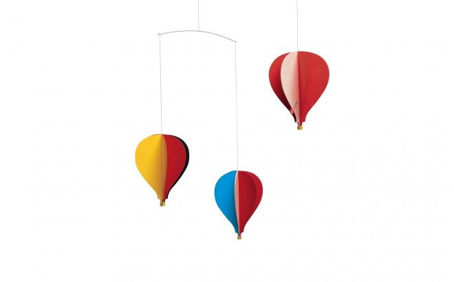 mobile bébé montgolfières Flensted pour décoration chambre bébé
