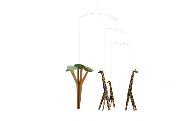giraffe baby mobile Flensted for baby nursery decoration