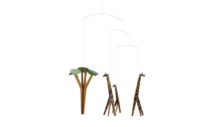 móvil de jirafas Flensted para decoración habitación bebé