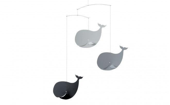 grey whales baby mobile Flensted for baby nursery decoration