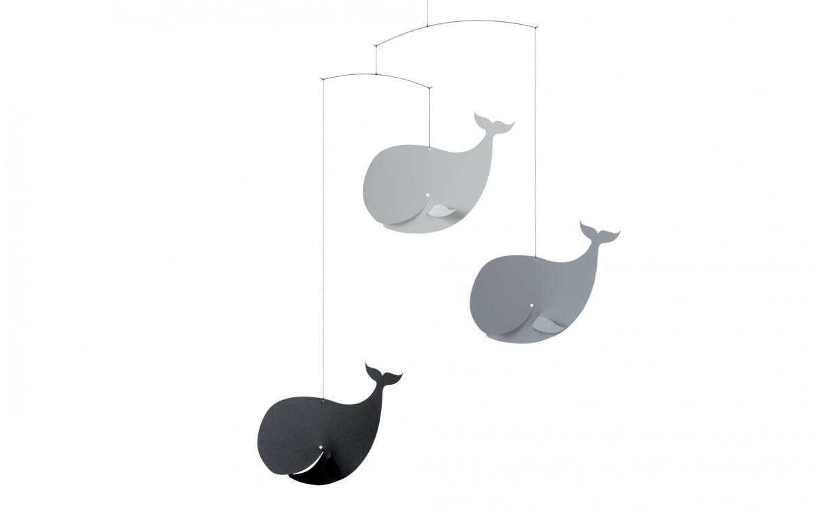 mobile baleine gris flensted d coration chambre b b et. Black Bedroom Furniture Sets. Home Design Ideas