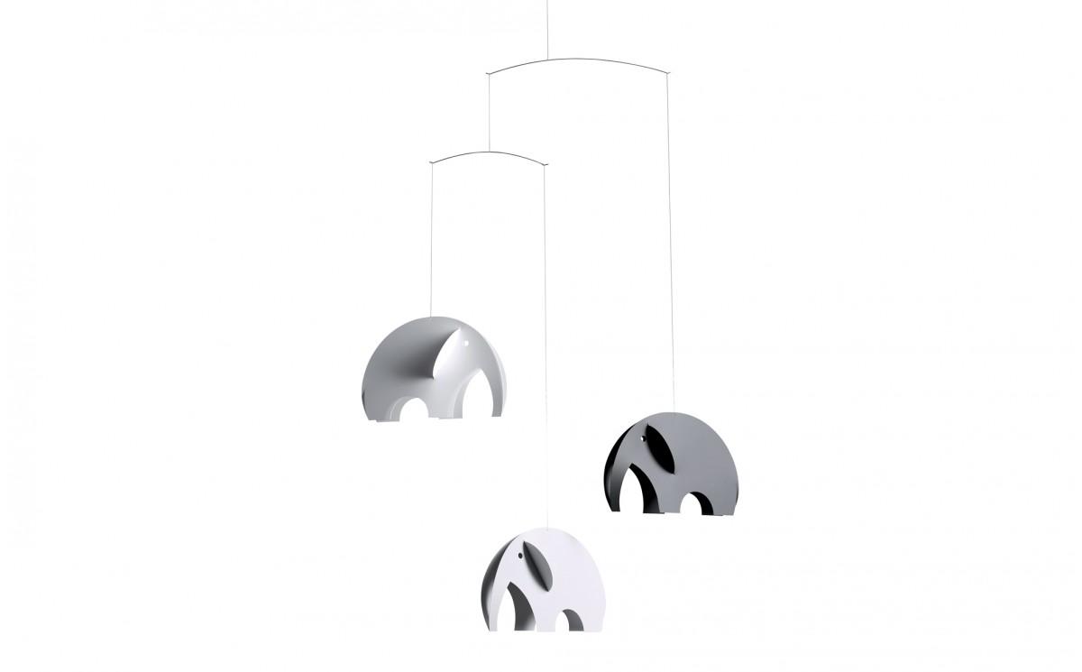 mobile elephant gris flensted d coration chambre b b et enfant cadeau naissance mobiles b b s. Black Bedroom Furniture Sets. Home Design Ideas