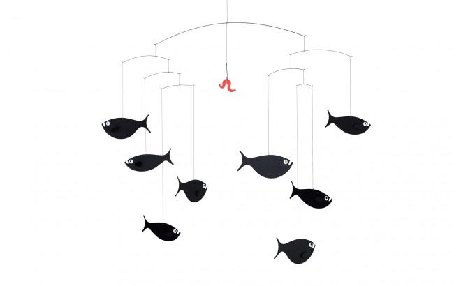 mobile banc de poissons flensted d coration chambre b b et enfant cadeau naissance mobiles. Black Bedroom Furniture Sets. Home Design Ideas