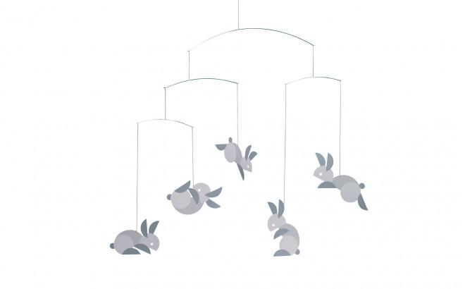 móvil conejo para cuarto bebé