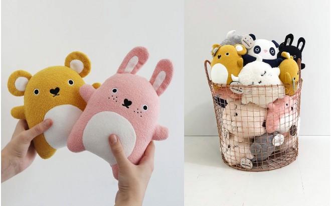 muñeco felpa para bebé y niños Ricecracker amarillo por Noodoll