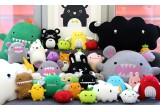 plush toy for babies and kids Ricekating black by Noodoll
